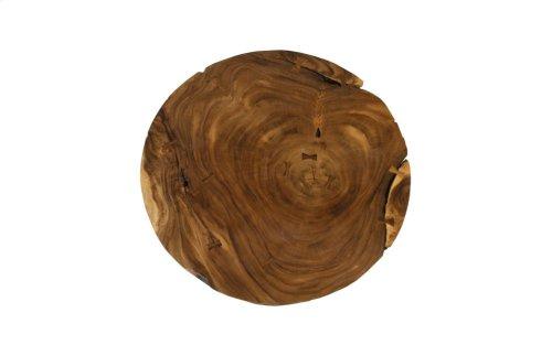 Chamcha Wood Thick Freeform Coffee Table, Round