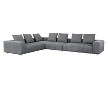 Flora Sectional - Charcoal