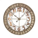 ROUND METAL OUTDOOR WALL CLOCK. Product Image