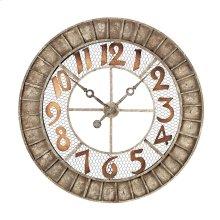 ROUND METAL OUTDOOR WALL CLOCK.