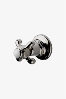 Etoile Volume Control Valve Trim White Porcelain Blank Indice with Metal Cross Handle STYLE: ETVC70