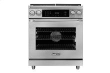 """30"""" Heritage Dual Fuel Epicure Range, Silver Stainless Steel, Natural Gas"""