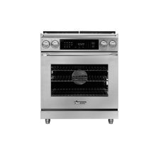 "30"" Heritage Dual Fuel Epicure Range, Silver Stainless Steel, Liquid Propane"