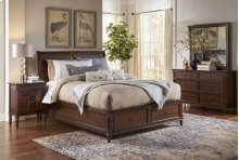 HOT BUY CLEARANCE!!! Avignon Birch Cherry Full Storage Bedroom Group