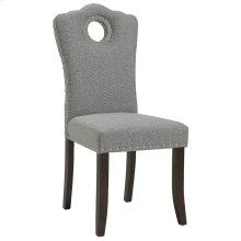 Elise Side Chair in Walnut & Light Grey