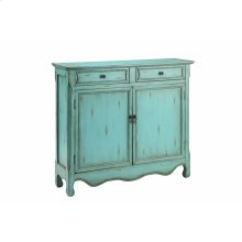 Claridon 2-door 2-drawer Cabinet In Light Blue