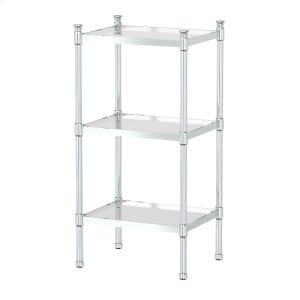 3-Tier Rectangle Taboret in Chrome Product Image