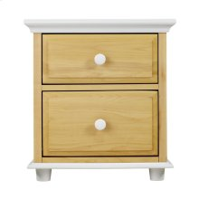 2 Drawer Dresser w/ Crown & Base - Two Tone