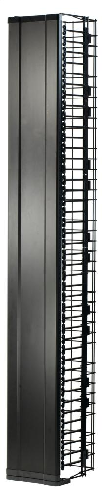 """MM20 Vertical Manager with Door, 10.5""""W x 15""""D for 7' MM20 racks"""