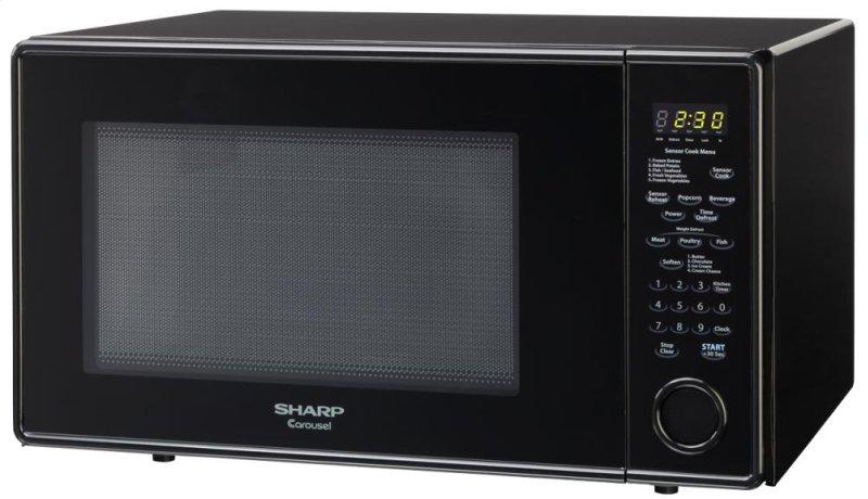 Hidden Additional 1 8 Cu Ft 1100w Sharp Black Carousel Countertop Microwave R 559yk
