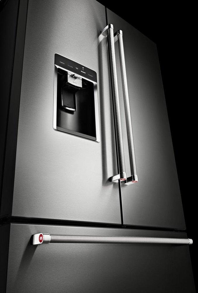 Krfc704fss kitchenaid 23 8 cu ft 36 counter depth - Kitchenaid refrigerator platinum interior ...