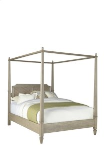 5/0 Queen Canopy Bed - Flax Finish