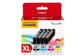 Canon CLI-281 XL Black, Cyan, Magenta & Yellow 4 Ink Pack CLI-281XL BKCMY 4 PACK
