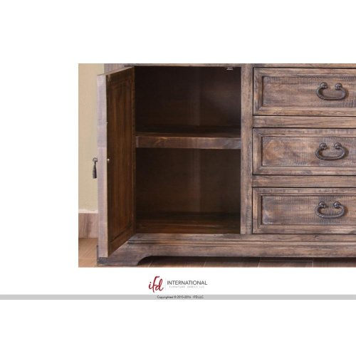 """66"""" Console w/6 Drawer, 2 doors"""