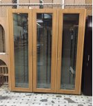 Custom Wood Wine Cabinet with 3 Glass Doors (Scratch n Dent) Product Image