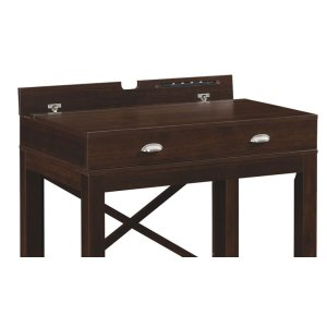 The Amherst desk with a flip-up top locks to keep laptops and mobile device...