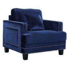 "Ferrara Velvet Chair - 39.5"" W x 35"" D x 34"" H"