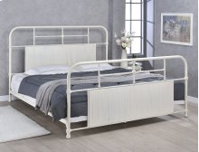 Cheriton Bed - King, Antique White Finish
