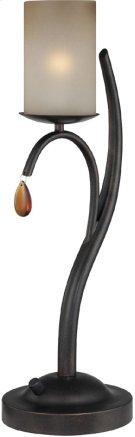 Table Lamp - Dark BRONZE/L.AMBER Glass Shade, E12 Type B 40w Product Image