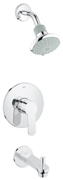 Eurostyle Cosmopolitan Pressure Balance Valve Bathtub/Shower Combo Faucet