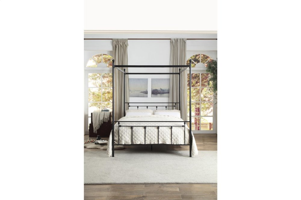 Hidden · Additional Queen Canopy Platform Bed