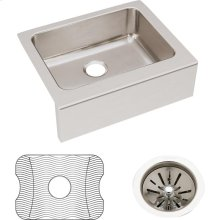 "Elkay Lustertone Classic Stainless Steel 25"" x 20-1/2"" x 7-7/8"", Single Bowl Farmhouse Sink Kit"