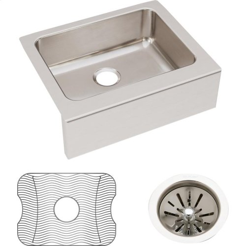 "Elkay Lustertone Classic Stainless Steel 25"" x 20-1/2"" x 7-7/8"", Single Bowl Farmhouse Sink Kit"