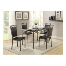 5-Piece Pack Dinette Set, Faux Marble Top