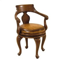 WARM WALNUT SWIVEL GAME CHAIR