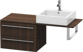 Low Cabinet For Console, Brushed Walnut (real Wood Veneer)