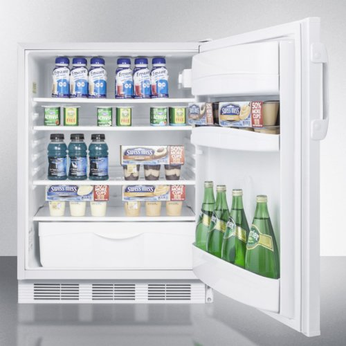 ADA Compliant All-refrigerator for Freestanding General Purpose Use, With Automatic Defrost Operation and White Exterior