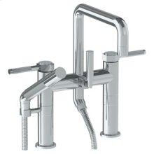 Deck Mounted Square Exposed Bath Set With Hand Shower
