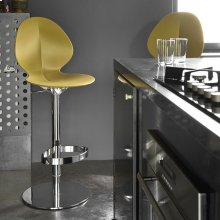 Stool with metal base