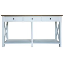 Sofa Table, Available in Hampton White or Hampton Grey Finish.