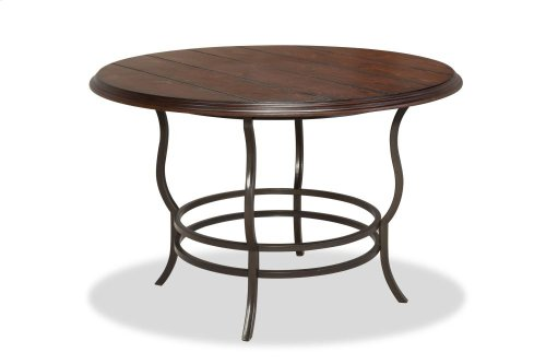4652  Midland Metal/Wood Reg Dining Table