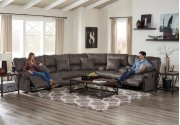 Lay Flat Reclining Console Loveseat w/Storage and Cupholders Product Image