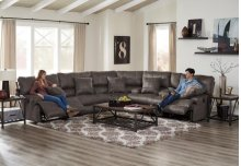Lay Flat Reclining Console Loveseat w/Storage and Cupholders