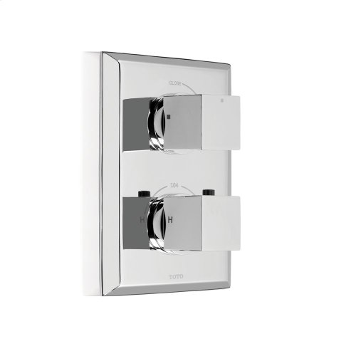 Lloyd® Thermostatic Mixing Valve Trim with Single Volume Control - Polished Chrome Finish