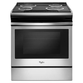 Whirlpool® 4.8 cu. ft. Guided Electric Front Control Coil Range - Black-on-Stainless