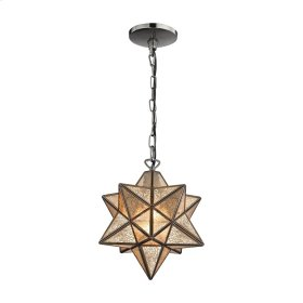 Moravian Star 1-Light Mini Pendant in Bronze