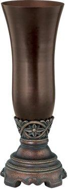 "Vase - Dark Bronze/smoke, 12.25""HX4.75""W Product Image"