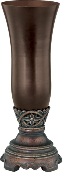 """Vase - Dark Bronze/smoke, 12.25""""HX4.75""""W"""