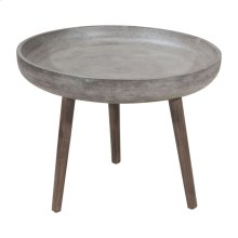Brother Side Table Cement&natural