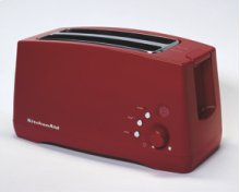 2 Extra-Long, Extra-Wide Slots 4-Slice Toaster Classic Styling