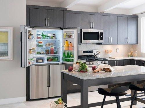 HOT BUY CLEARANCE!!! 23 cu. ft. Counter Depth 4-Door Flex Refrigerator with FlexZone