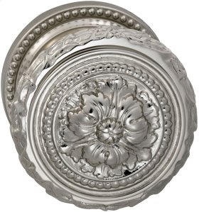Interior Ornate Knob Latchset in (US14 Polished Nickel Plated, Lacquered)