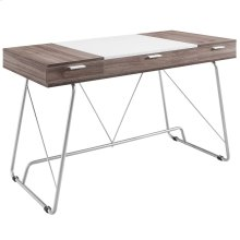 Panel Office Desk in Birch