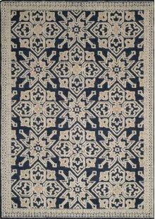 Chenille Lattice Navy Rugs
