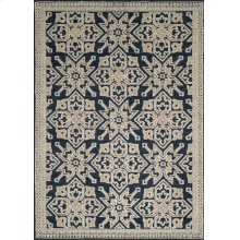 Chenille Lattice Navy Rugs