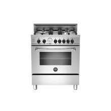 30 4-Burner, Gas Oven Stainless